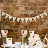With Love Just Married Bunting